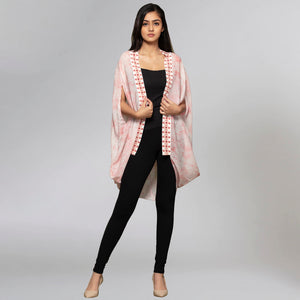 Peach Animal Print Cape