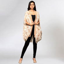 Load image into Gallery viewer, Beige Animal Print Cape