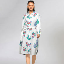 Load image into Gallery viewer, Mauve Embellished Floral Shirt Dress