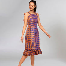 Load image into Gallery viewer, Brown Smocked Sundress