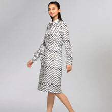 Load image into Gallery viewer, Grey Zig-Zag Shirt Dress