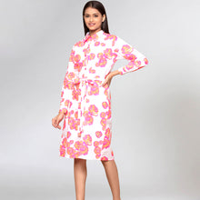 Load image into Gallery viewer, Orange Floral Shirt Dress