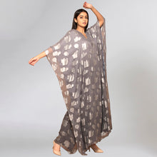 Load image into Gallery viewer, Dark Grey Ombre Full Length Kaftan