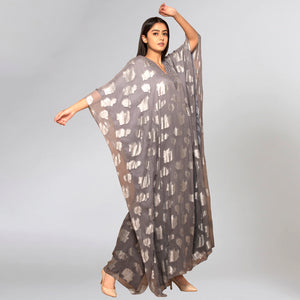 Dark Grey Ombre Full Length Kaftan