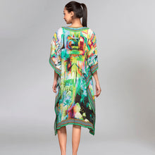 Load image into Gallery viewer, Green Abstract Mid Length Kaftan