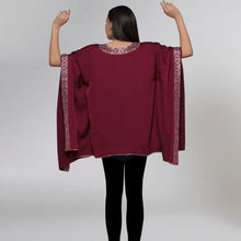 Load image into Gallery viewer, Maroon Embellished Kaftan Top