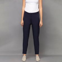 Load image into Gallery viewer, Dark Blue Slim Fit Pants