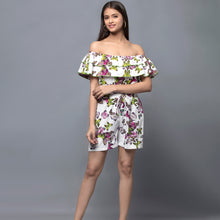 Load image into Gallery viewer, Multicoloured Ruffled Playsuit