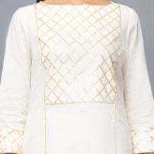 Load image into Gallery viewer, Ivory Mirror Work Sharara Suit Set