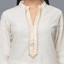 Load image into Gallery viewer, Ivory Sequinned Sharara Suit Set
