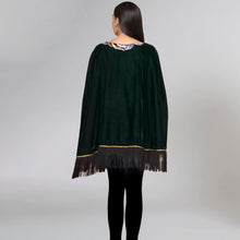 Load image into Gallery viewer, Green Sequinned Poncho