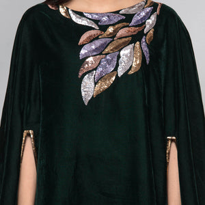 Green Sequinned Poncho