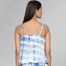 Load image into Gallery viewer, Blue Tie-Dye Camisole