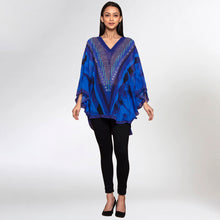 Load image into Gallery viewer, Blue Embellished Floral Tunic