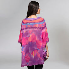 Load image into Gallery viewer, Pink And Purple Embellished Floral Tunic