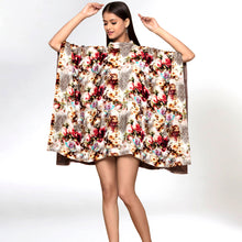 Load image into Gallery viewer, Beige Floral Crystal Studded Tunic
