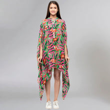 Load image into Gallery viewer, Pink Tropical Print Tunic