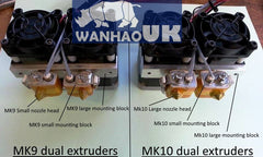 D4 Dual MK10 Extruders - Plug and Play