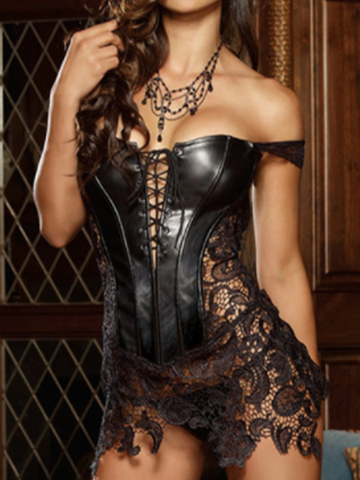 Sexy Leather Corset