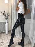 High-rise Skinny PU Casual Pants