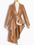 Slim-fit Leather Dovetail Jacket