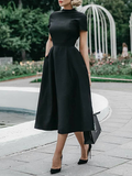Black Short Sleeve Women's Dress