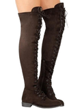 Lace-up Thigh High Boots