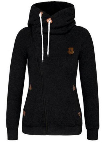 Side Zip Hooded Sweatshirt Jacket