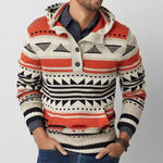 Fashion Hooded Sweater Slim Jacquard Knitted Sweater