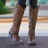 Rivet Tall Knight Boots Fashion