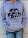 Loose Printed Hooded Sweatshirt
