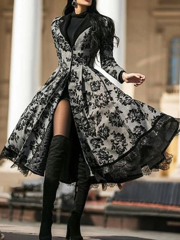 Lace Stitching Jacket Dress