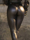 Slim Sexy Motorcycle Leather Pants
