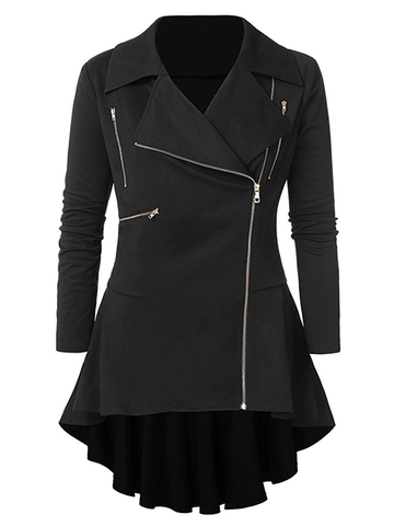 Lapel Zip Coat