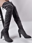Pointed Side Zipper Stretch Boots