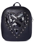 Transparent Heart-shaped Rivet Gothic Backpack