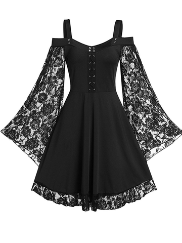Sexy Suspender Lace Dress