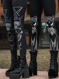 Cat Skull Printed Casual Pants