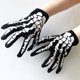 Halloween Skull Printed Gloves