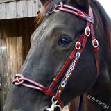 Fashion Leather Bridle Head Horse Equipment Metal Bridle Cover