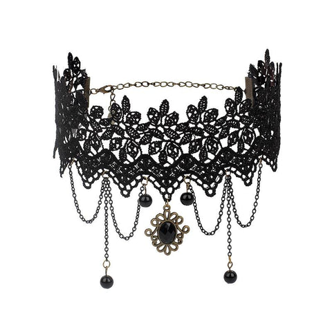 Dark Gothic Lolita Choker Necklace