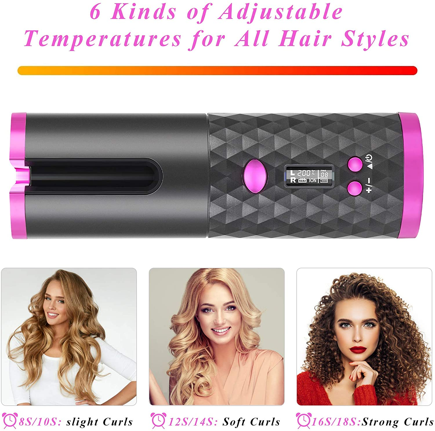 Spartose™ World's First Wireless Automated Curling Iron 2020!