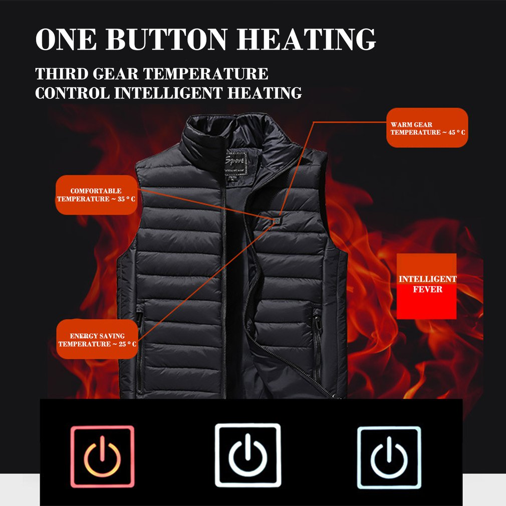 Spartose Unique Heated Rechargebacle USB Unisex Vest 2020!