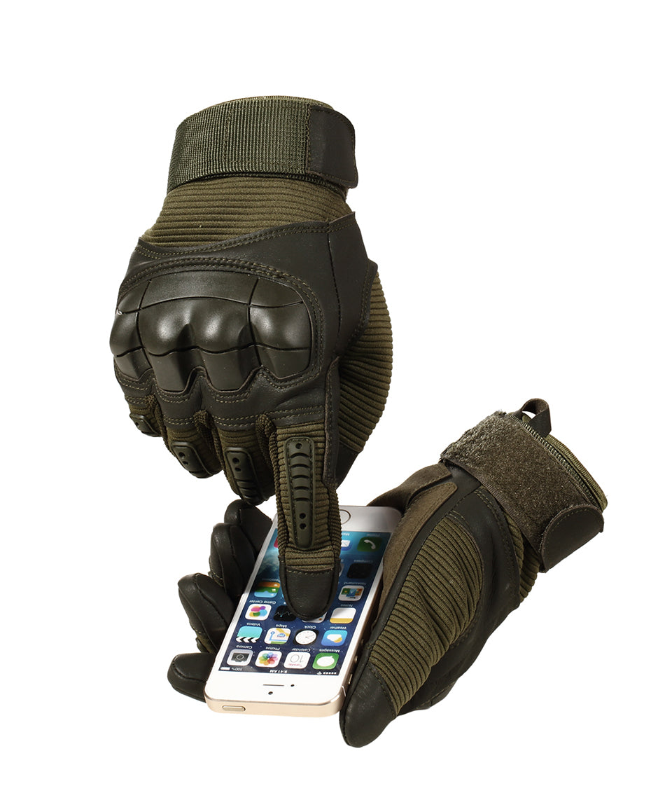 Spartose Full Finger Tactical Gloves - Hard Knuckle Army Special Forces Ops Fire Resistant Water Proof Gloves 2021!