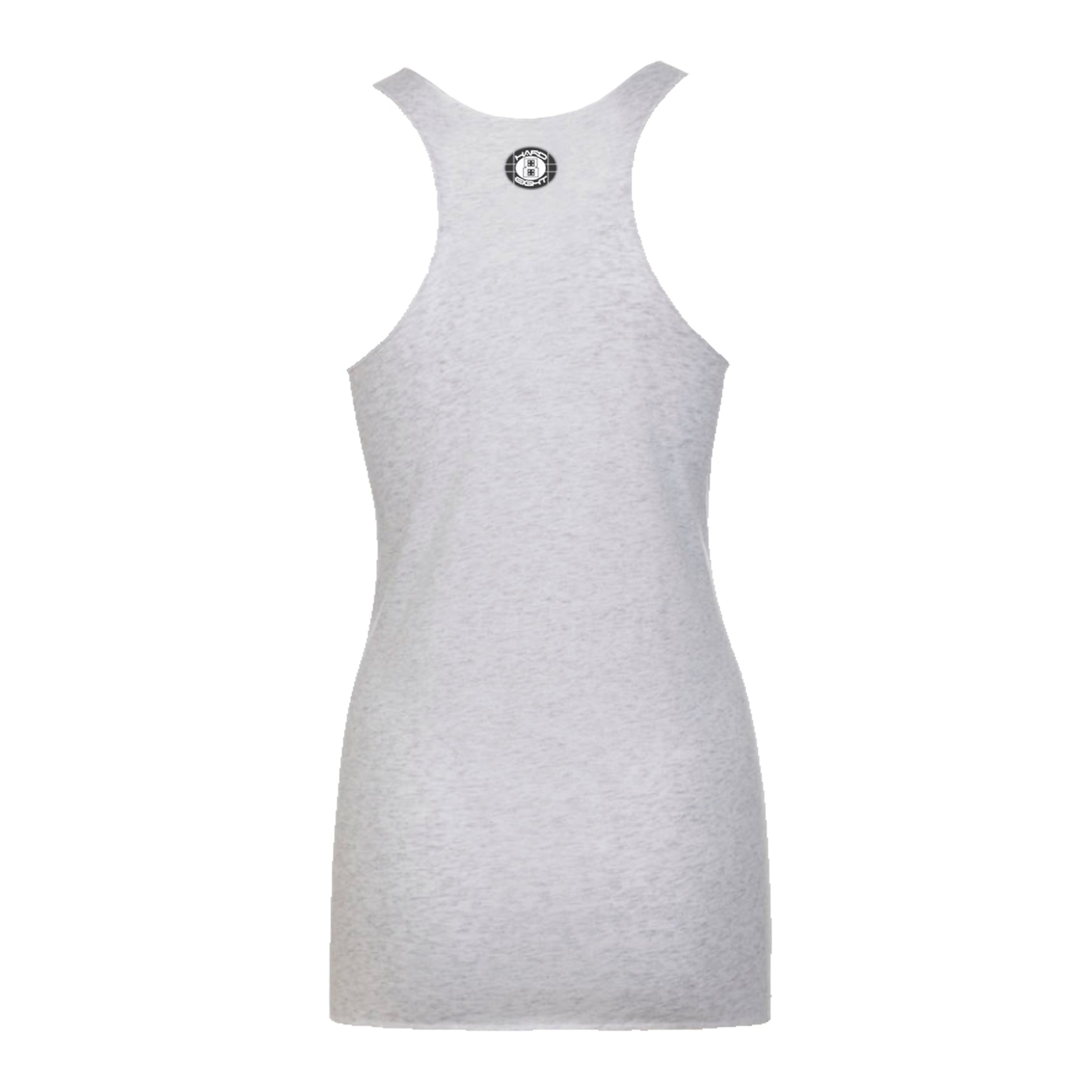 "WOMEN'S ""ROSE SKULL""  RAW EDGE RACER BACK TANK Oatmeal Heather"