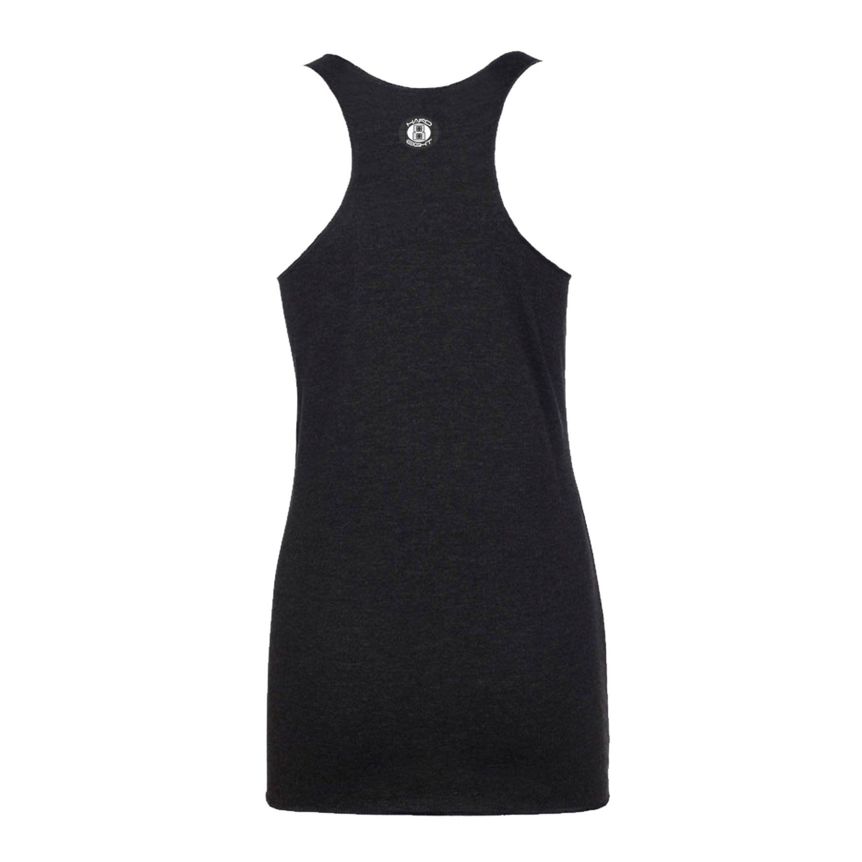 "WOMEN'S ""ROSE SKULL""  RAW EDGE RACER BACK TANK Black Heather"