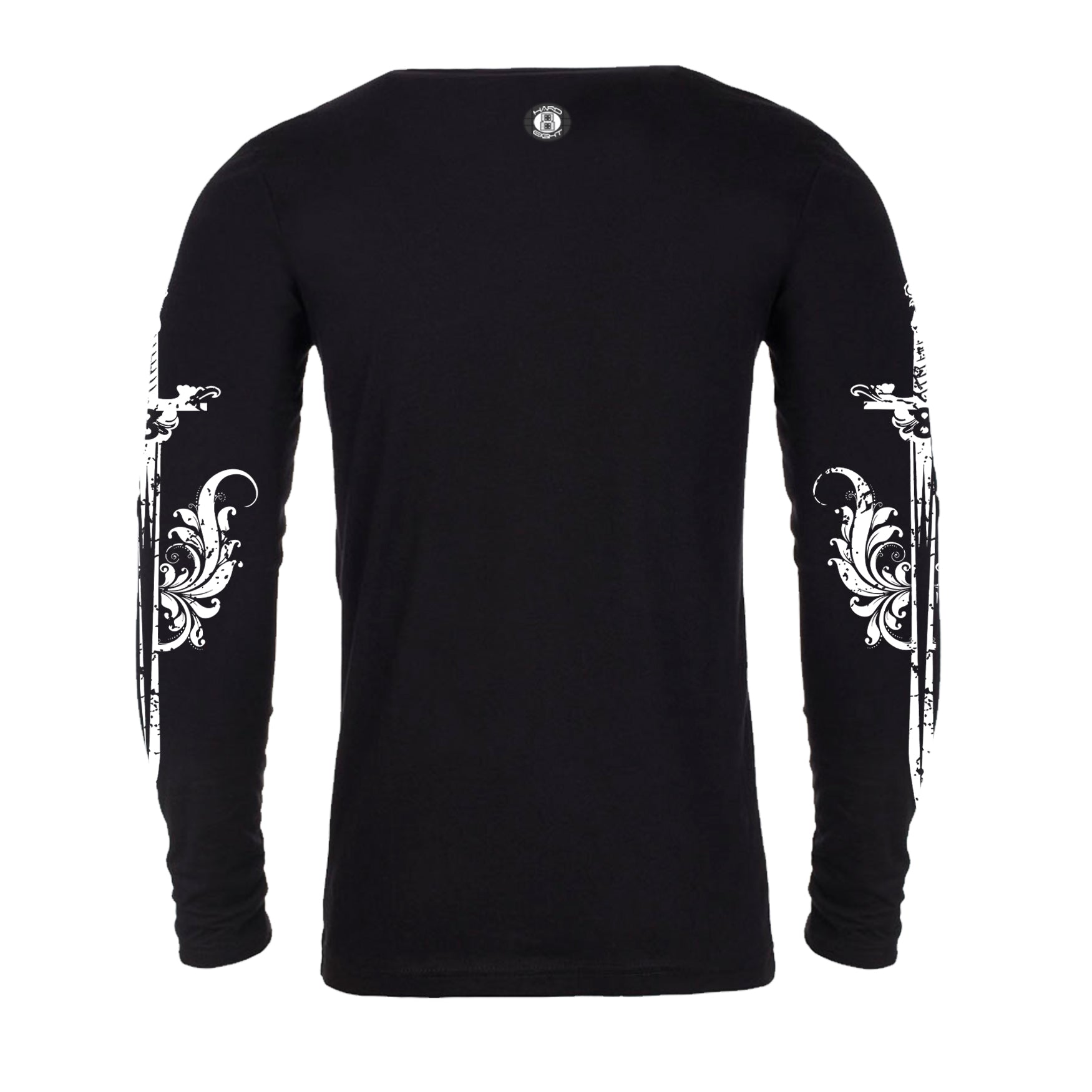 "MEN'S LAUNDERED COTTON LONG SLEEVE CREW  ""DAGGER SLEEVES"" PRINT Black"