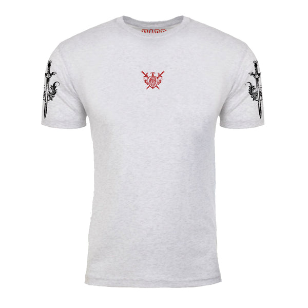 "MEN'S ""LION CREST"" ULTRA-SOFT TRI-BLEND CREW-NECK Natural Heather"