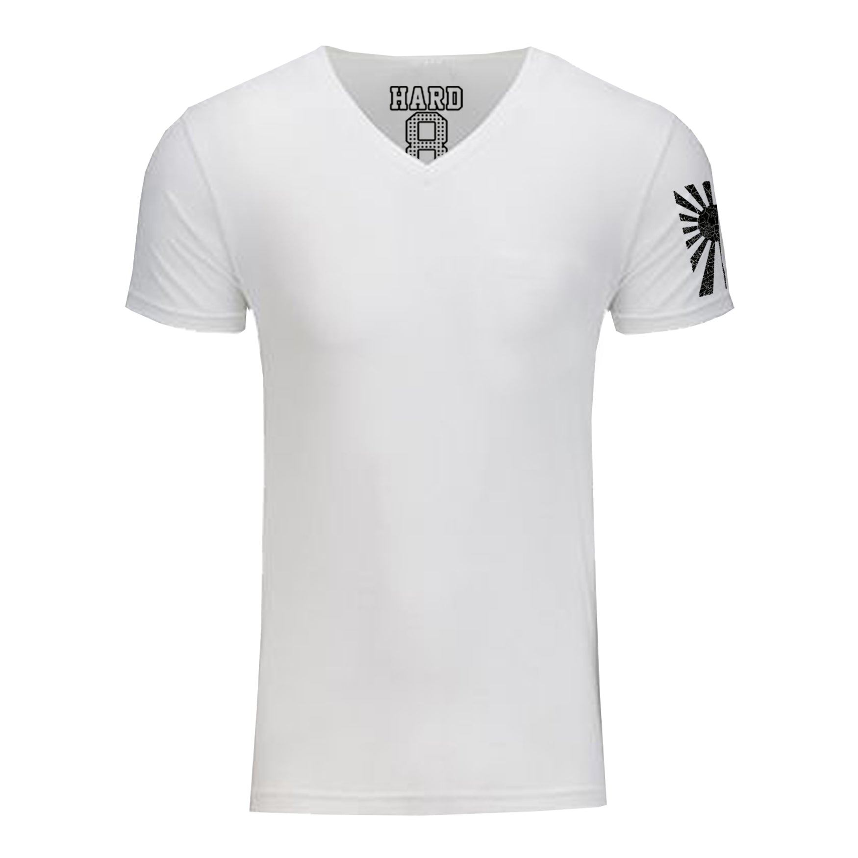"MEN'S ""RISING SUN SLEEVE"" SUEDED COTTON BLEND V-Neck White"