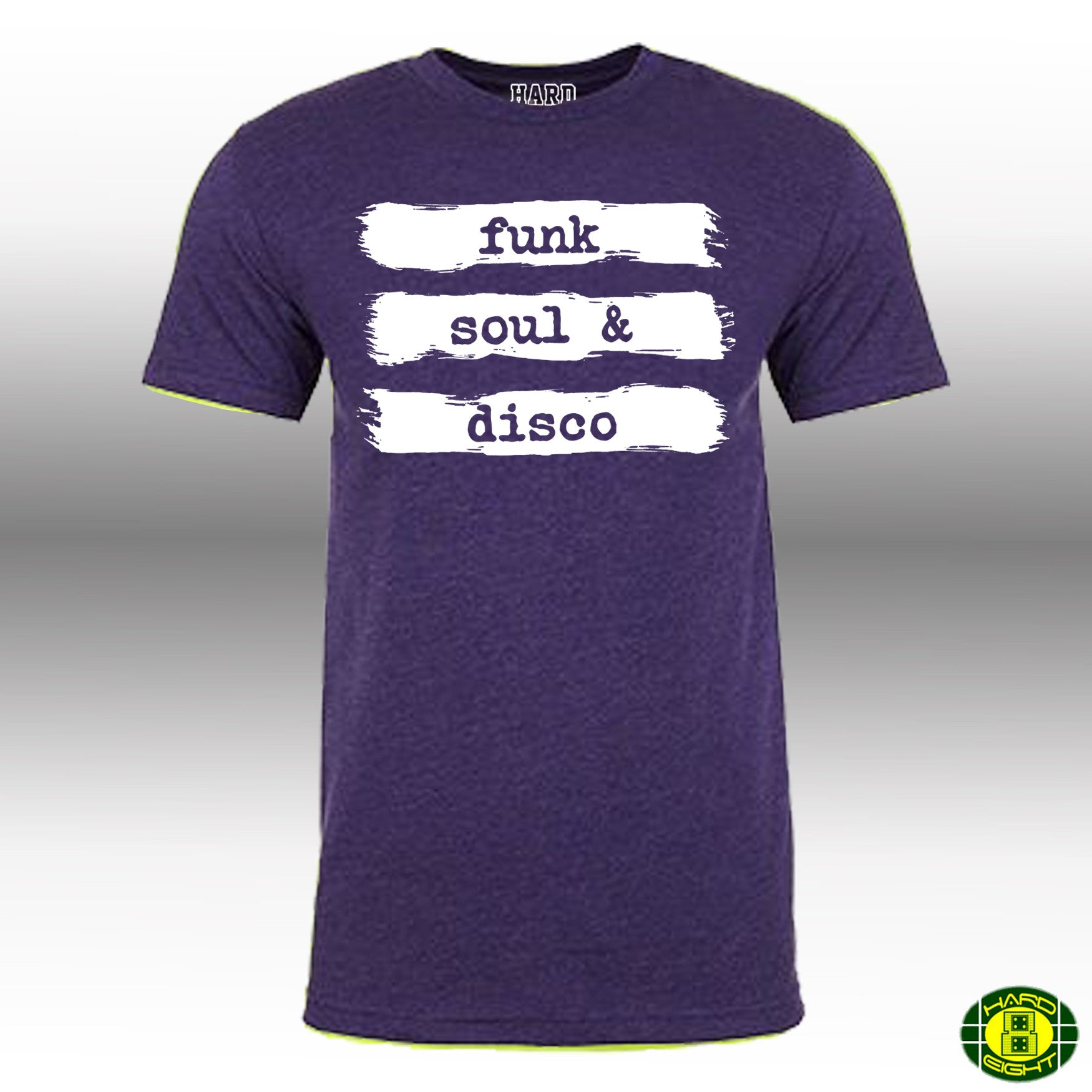 "MEN'S ""FUNK SOUL & DISCO"" LAUNDERED COTTON BLEND Crew-Neck Purple"